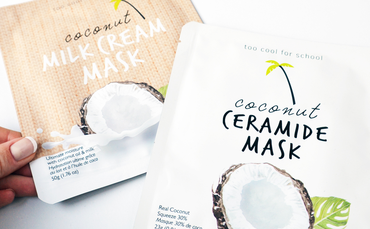 Review Too Cool For School Coconut Ceramide Mask Too Cool For School Coconut Milk Cream Mask Sheet Mask from Korea K-Beauty Blog Europe