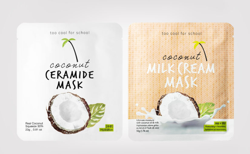 FIRST IMPRESSION: Too Cool For School Coconut Ceramide Mask + Coconut Milk Cream Mask