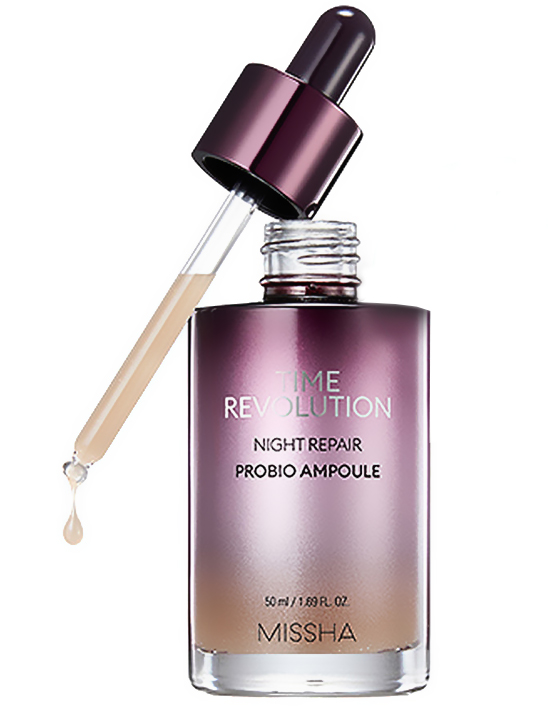 New Missha Time Revolution Night Repair Probio Ampoule 2019 wrinkle serum from Korea Korean skin care K-beauty Blog Europe
