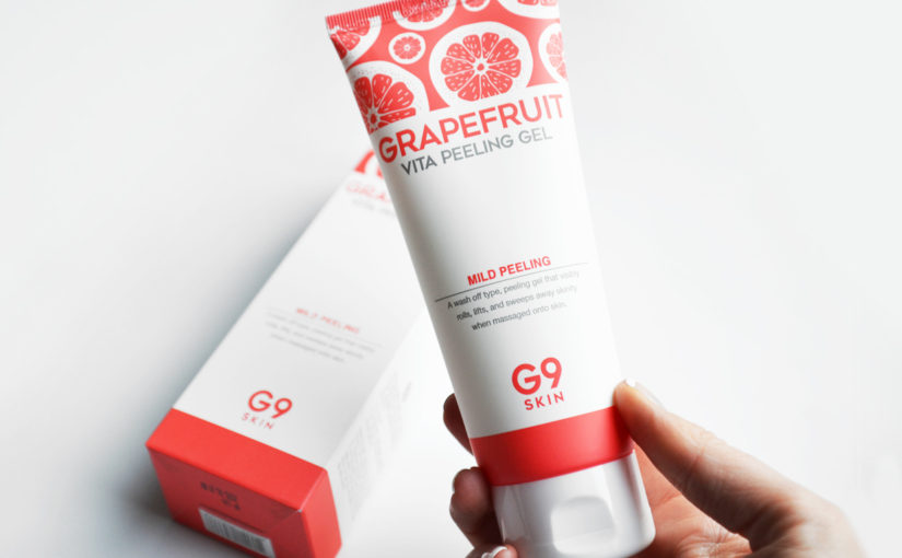 G9SKIN Grapefruit Vita Peeling Gel AHA BHA face mask from Korea Remove dead skin cells & sebum Korean Skin Care K-beauty Blog Europe