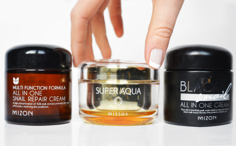 Top 3 best Korean snail creams treating wrinkles and acne Korean skin care K-beauty Blog Europe