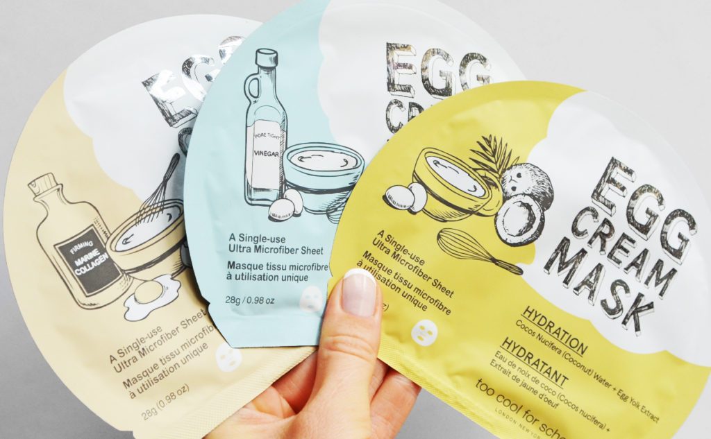 Best skin care products sheet masks from Korean brand Too Cool For School Korean skin care K-beauty Blog Europe