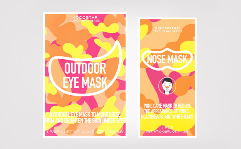 Kocostar Camouflage Outdoor Eye Mask & Nose Mask nose strip Korean skin care K-beauty Europe