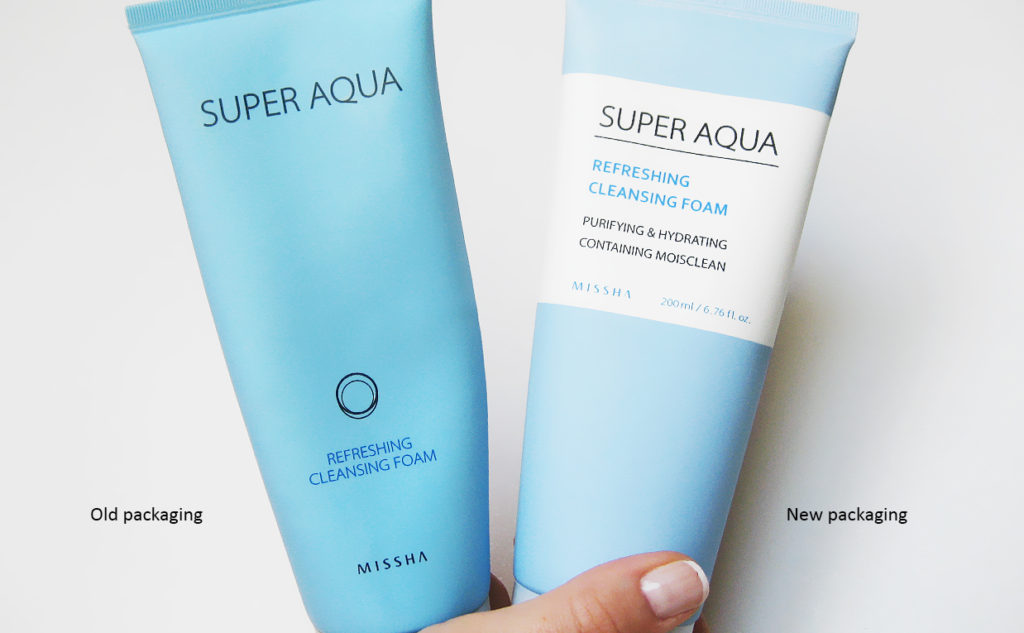 Missha Super Aqua Refreshing Cleansing Foam foaming cleanser from Korea Korean skin care K-beauty Blog Europe