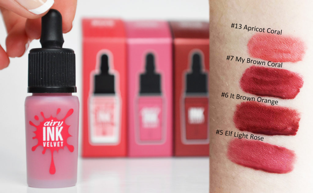 Review Peripera Ink The Airy Velvet swatches Lip tint from Korea Korean makeup K-beauty Blog Europe