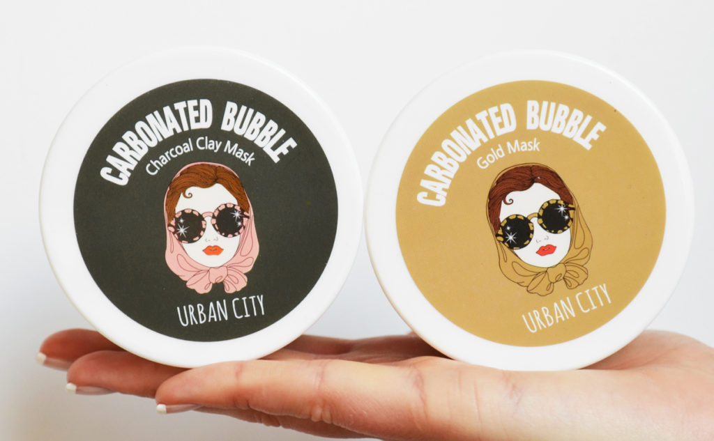 Review Urban Dollkiss Carbonated Bubble Clay Mask Gold Charcoal Oily Skin Combination Skin Pores Korean Skin Care K-Beauty Blog Europe
