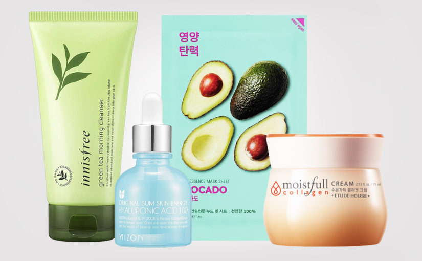 Best basic Korean skin care routine x 4 products all skin types Korean skin care K-beauty Blog Europe