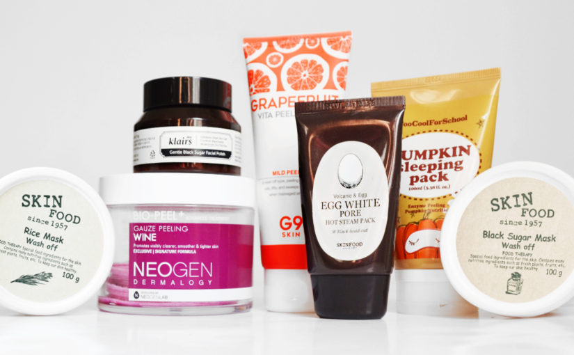 7 best Korean facial scrubs & chemical peels!