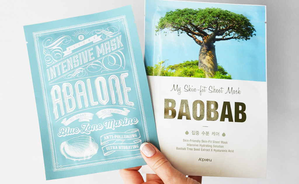 Blithe Intensive Mask Abalone A'pieu My Skin-fit Sheet Mask Baobab Best Korean Sheet Mask K-beauty Blog Europe