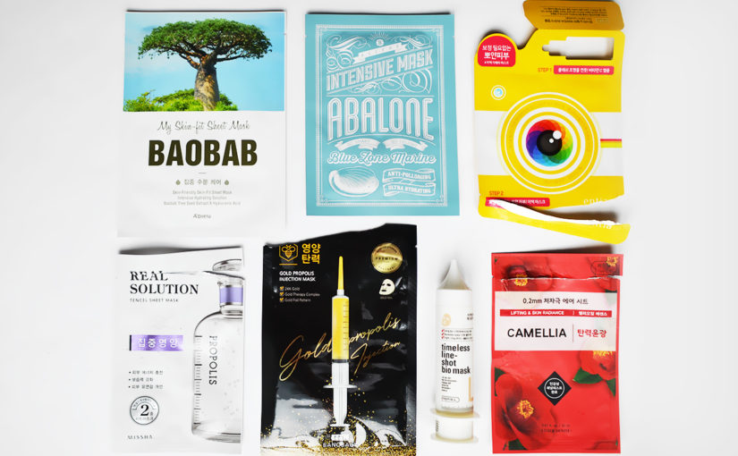 Sheet mask favourites in May