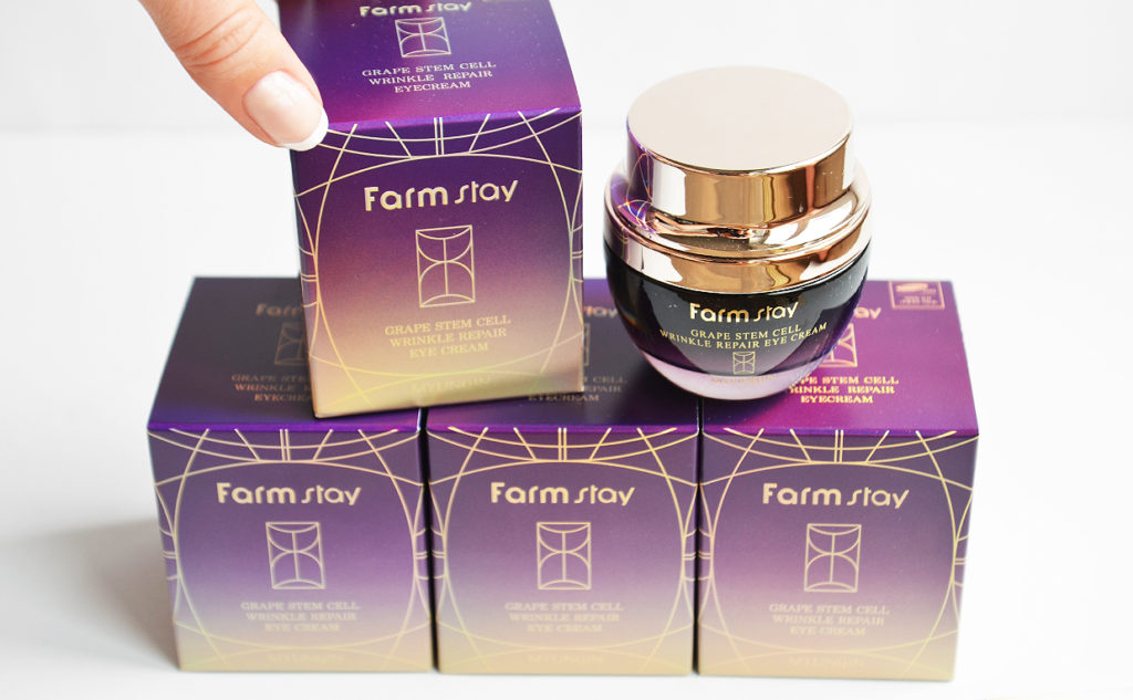 Farmstay Grape Stem Cell Wrinkle Repair Eye Cream anti-age cream from Korea Korean Skin Care K-Beauty Blog Europe