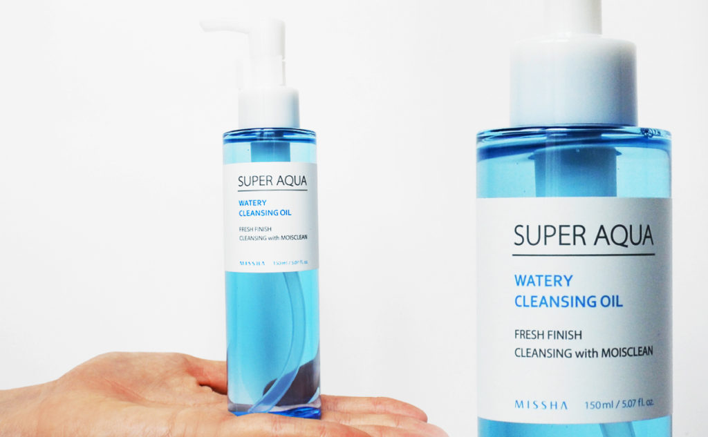 Review Missha Super Aqua Watery Cleansing Oil cleansing oil from Korea K-beauty Blog Europe