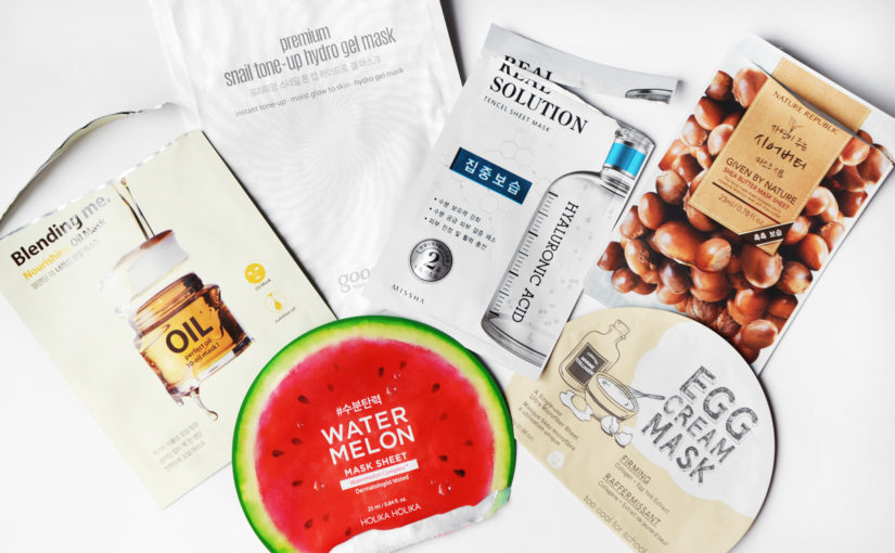 6 x Sheet mask favourites