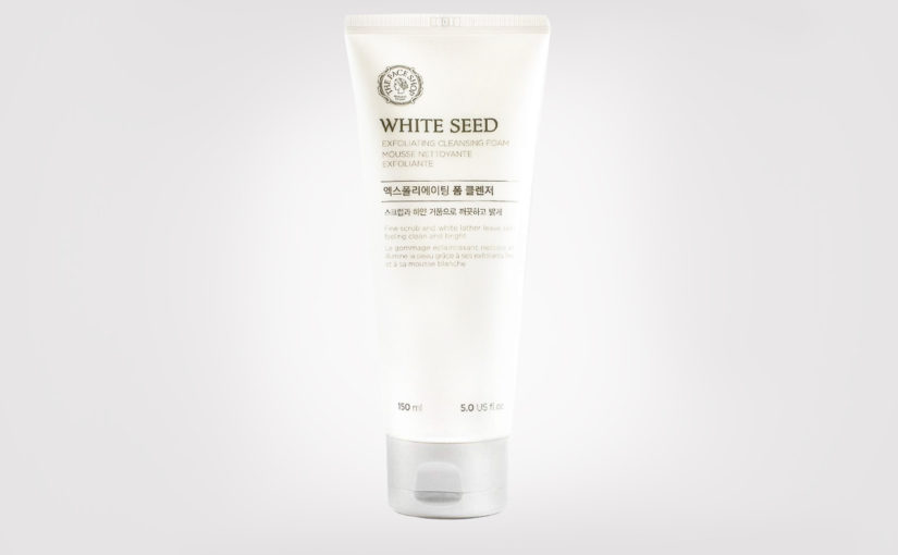 Review Thefaceshop White Seed Exfoliating Cleansing Foam Korean exfoliating foam cleanser from Korea K-beauty Blog Europe