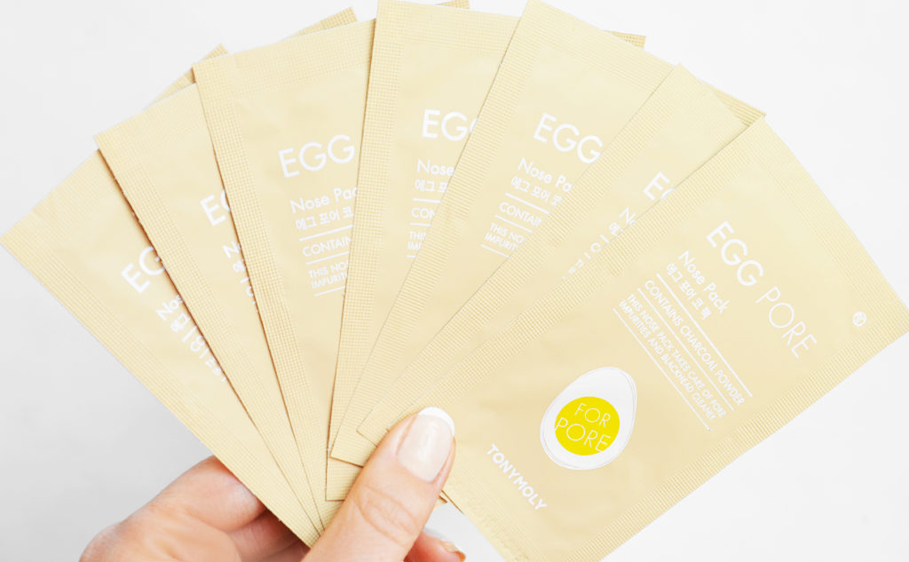 buy Tonymoly Egg Pore Nose Pack Package nose strip from Korea blackheads enlarged pores k-beauty webshop