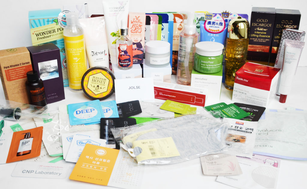 K-beauty JOLSE haul 5kg buy Korean skin care directly from Korea customs fee K-beauty Blog Europe