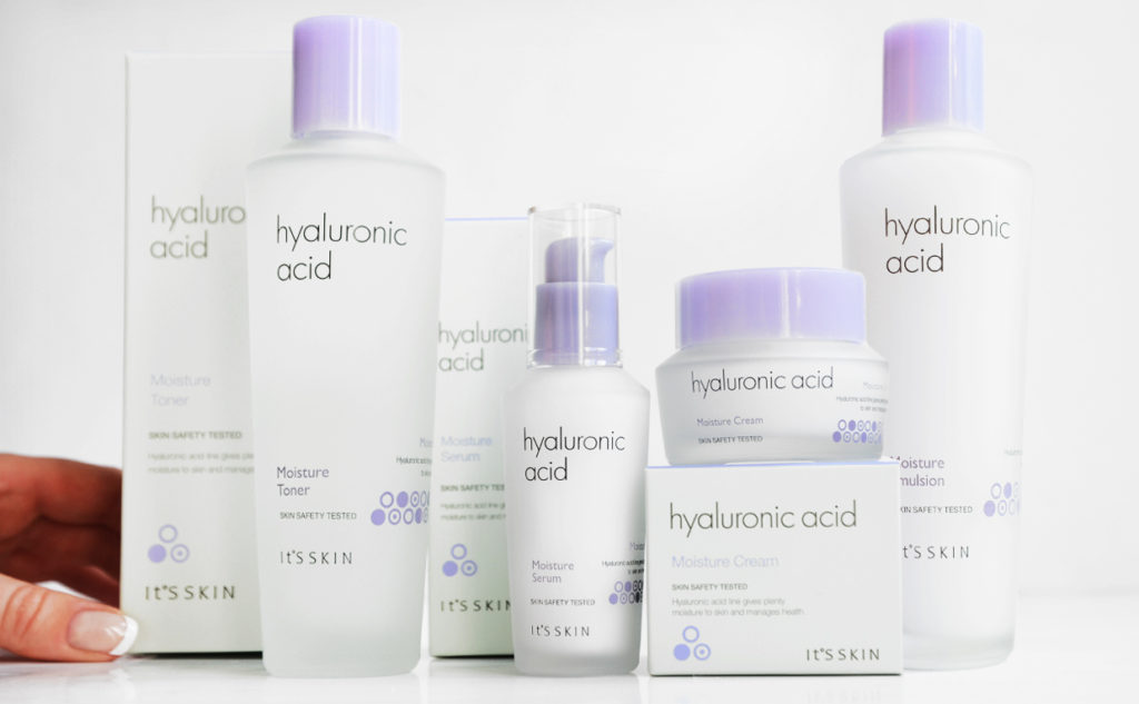 Review It's Skin Hyaluronic Acid Moisture line dry sensitive skin Korean skin care K-beauty Blog Europe
