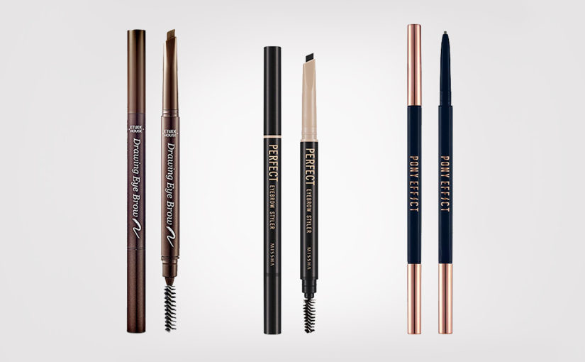 Best Korean Eyebrow Pens from Korea Etude House Missha Pony Effect Korean Makeup K-beauty Blog Europe