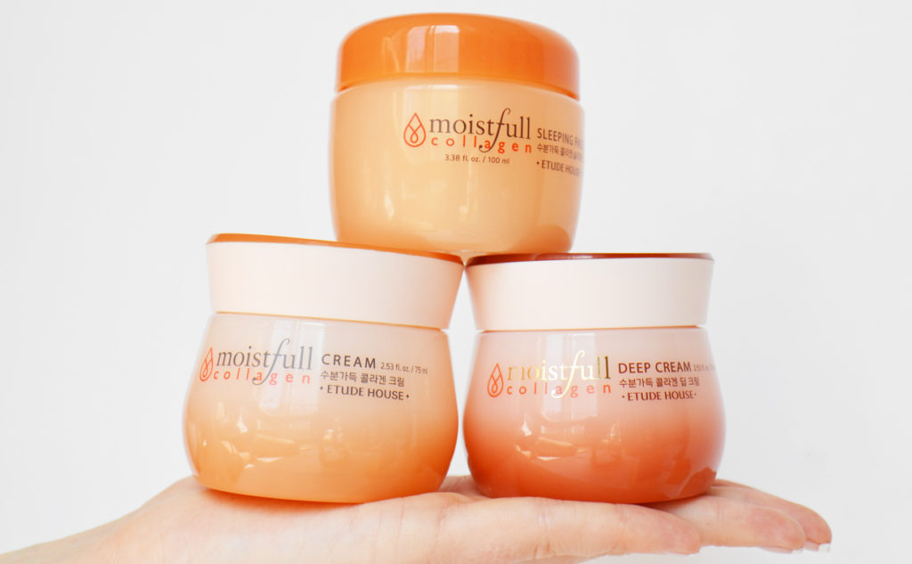 Etude House Moistfull Collagen line from Korea face cream sleeping mask Korean skin care K-beauty Blog Europe