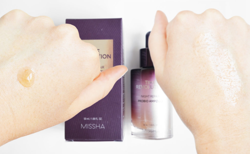 Review Missha Time Revolution Night Repair Probio Ampoule Anti-age Serum Wrinkles Pigmentation Korean Skin Care K-beauty Blog Europe