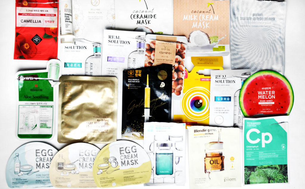 Best Korean sheet masks 2019 recommended face masks from Korea 2019 Korean skin care K-beauty Blog Europe