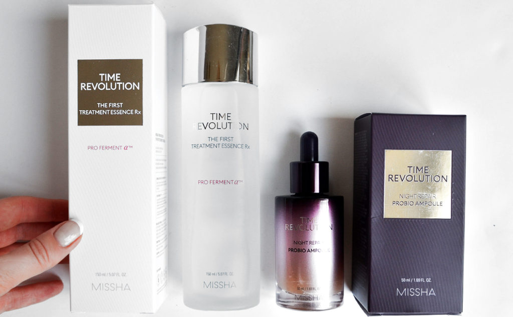 Missha Time Revolution The First Treatment Essence RX Night Repair Probio Ampoule Anti-Age Wrinkles Mature Skin Korean Skin Care K-beauty Blog Europe