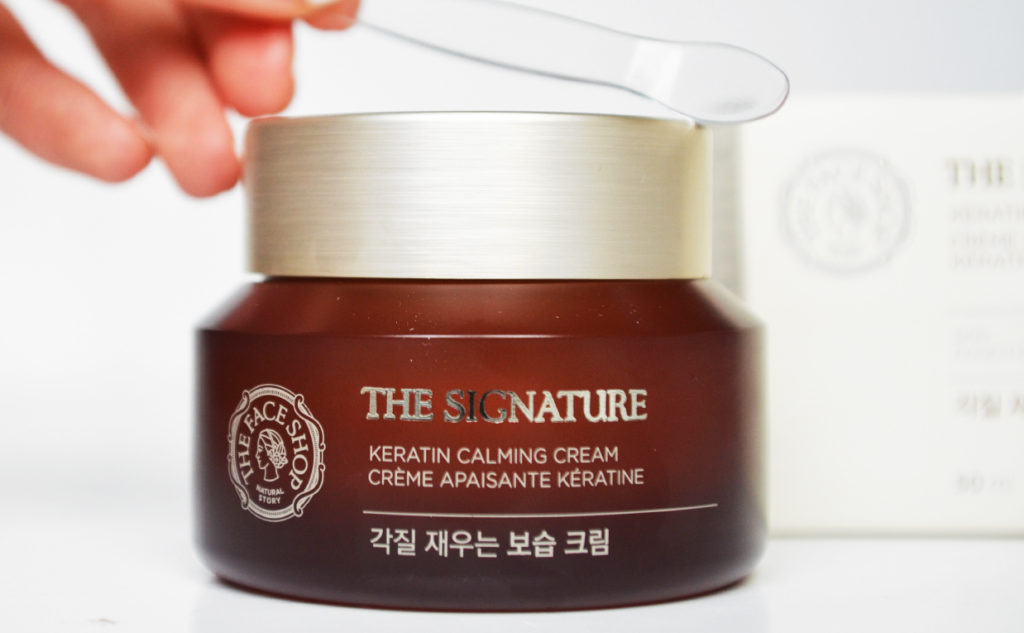 Review Thefaceshop The Signature Keratin Calming Cream face cream night cream from Korea anti-age wrinkles mature skin K-beauty Blog Europe