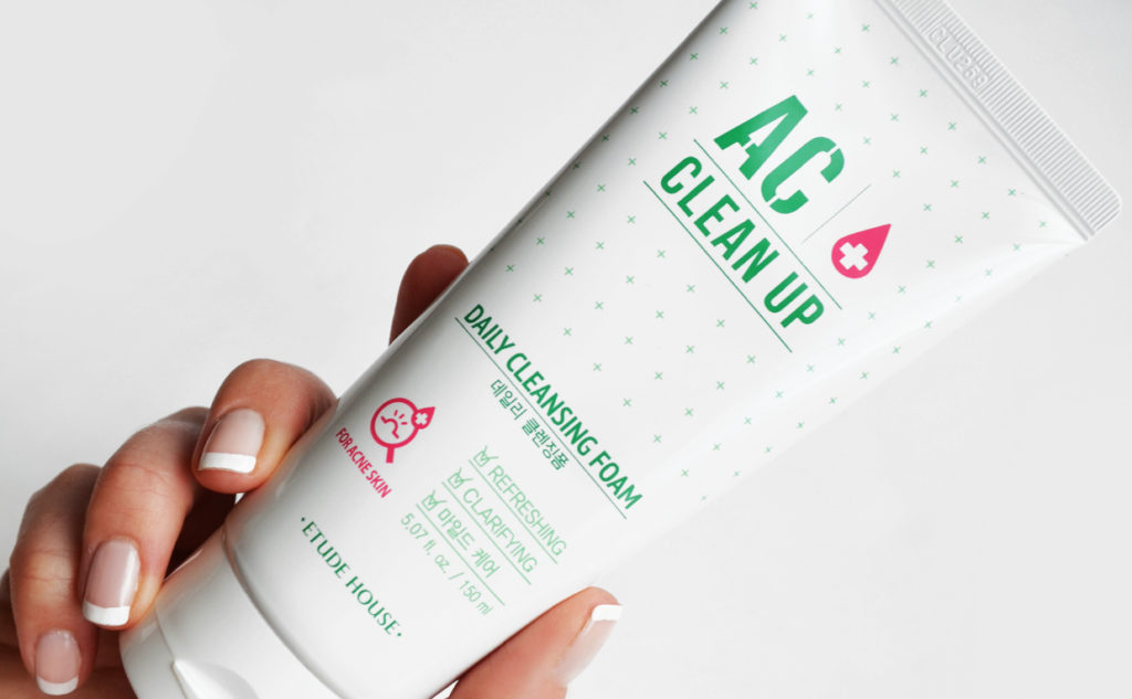 Etude House AC Clean Up Daily Cleansing Foam Foaming Facial Cleanser from Korea Korean Skin Care K-beauty Blog Europe