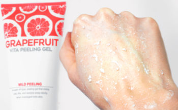 Review G9Skin Grapefruit Vita Peeling Gel Exfoliating face mask from Korea Korean skin care K-beauty Blog Europe