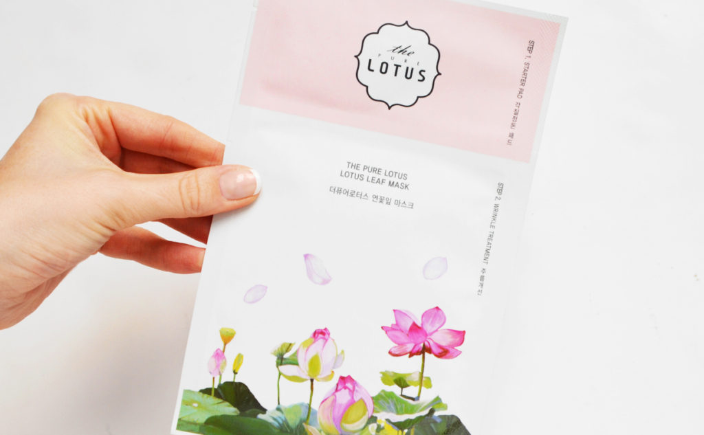 Review The Pure Lotus Leaf Mask Wrinkle Treatment sheet mask mature skin Korean skin care K-beauty Blog Europe