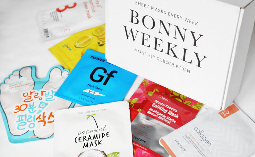 20% discount on the Bonny Weekly sheet mask box!