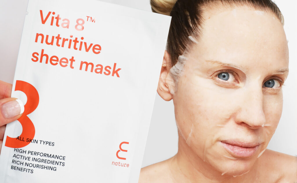E Nature Vita 8 Nutritive Sheet Mask from Korea Korean skin care K-beauty Blog Europe