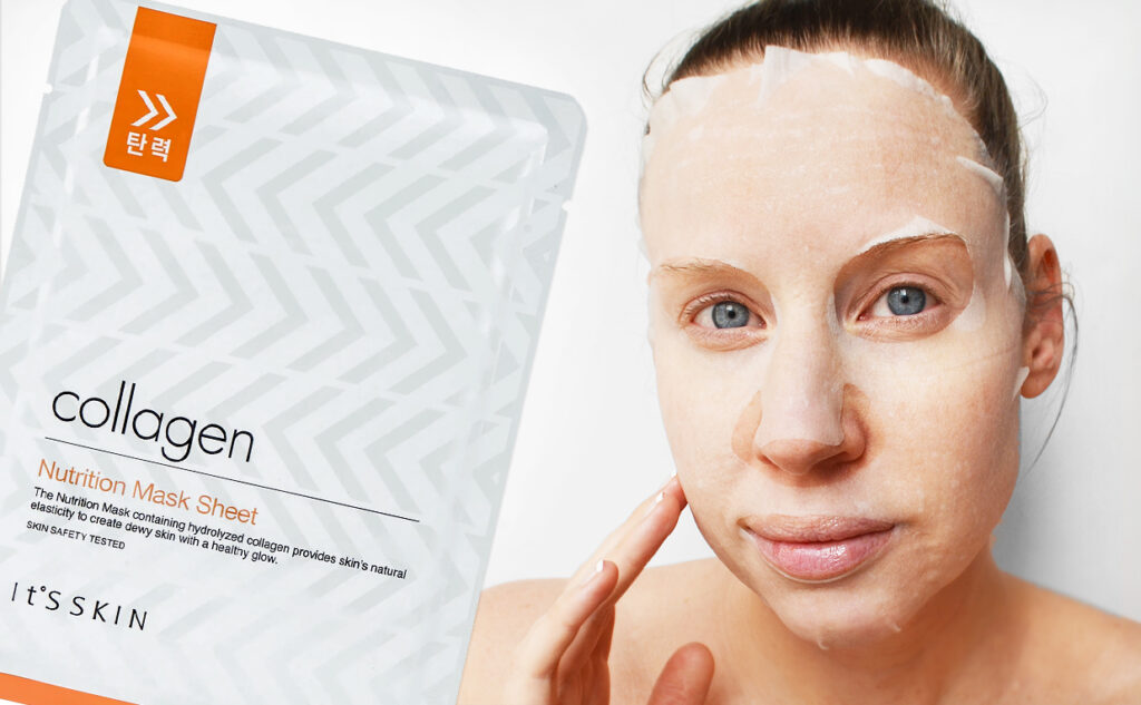 It's Skin Collagen Nutrition Sheet Mask from Korea Korean skin care K-beauty Blog Europe