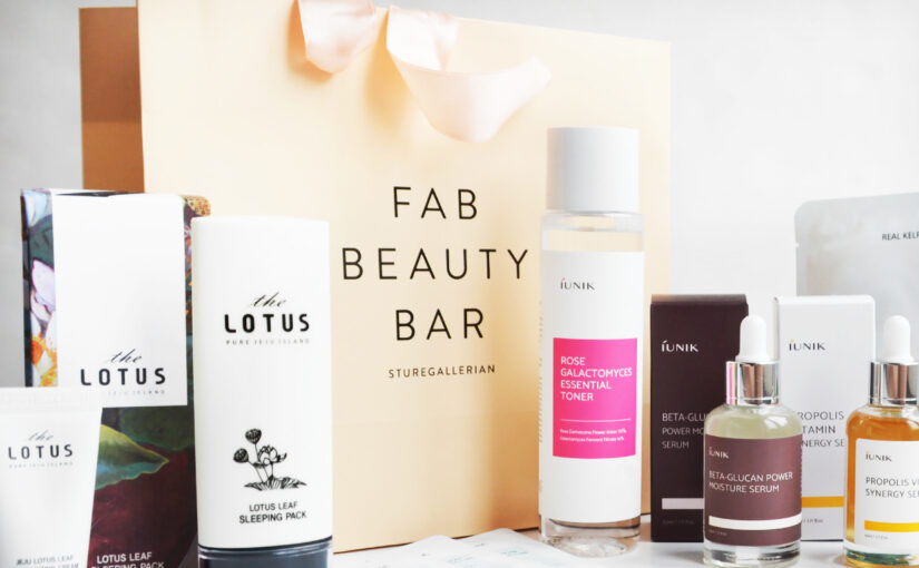 Goodiebag from fabulous Fab Beauty Bar + discount codes!