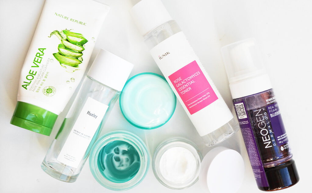 Korean skin care empties and newbies from Huxley Neogen Nature Republic iUNIK K-beauty Blog Europe