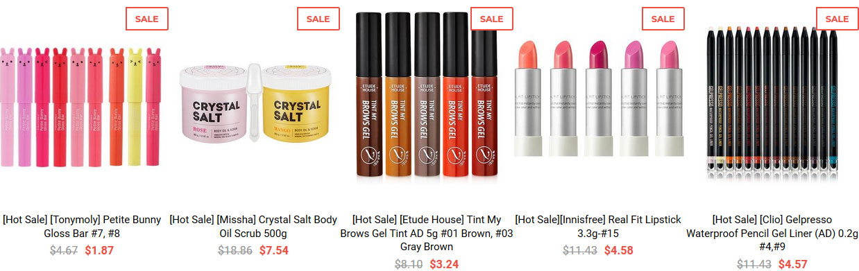 Cosmetic Love sales and discounts on Korean skin care & makeup