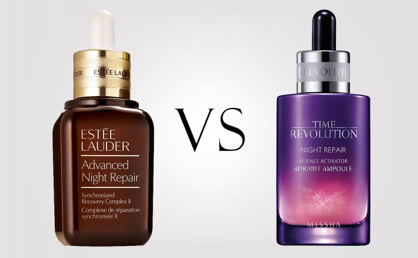 Estee Lauder Advanced Night Repair VS Missha Time Revolution Night Repair Ampoule