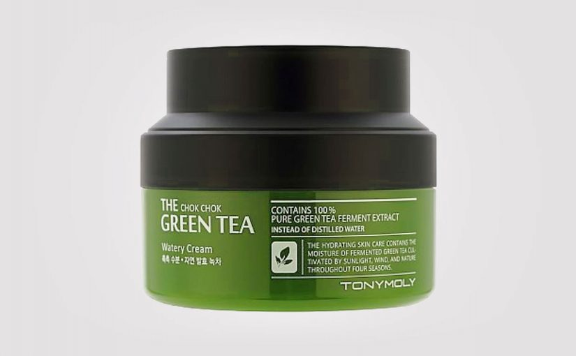 TonyMoly The chok chok green tea watery cream. K-beauty Sverige