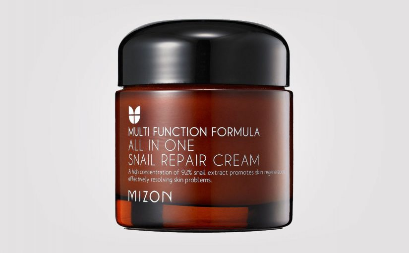 FULL RECENSION: Mizon All In One Snail Repair Cream. koreansk hudvård K-beauty Sverige