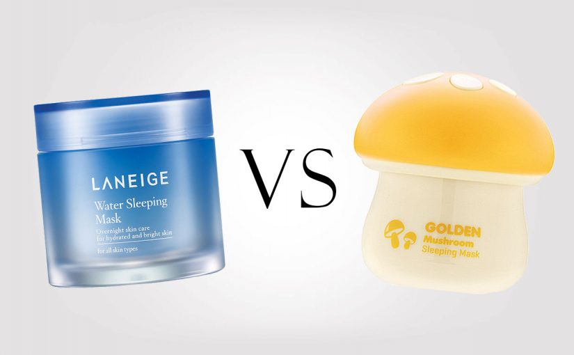 Laneige Water Sleeping Mask VS TonyMoly Magic Food Golden Mushroom Sleeping Mask. Koreansk hudvård K-beauty Sverige