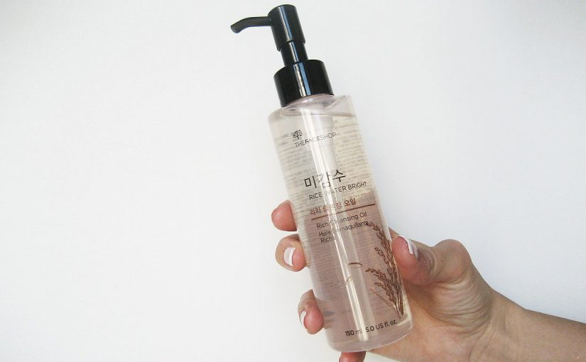 Imorgon, en first impression recension på Thefaceshop Rice Water Bright Rich Cleansing Oil