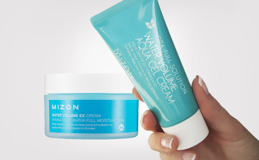 Mizon Water Volume EX Cream och Mizon Water Volume Aqua Gel Cream är väldigt lika