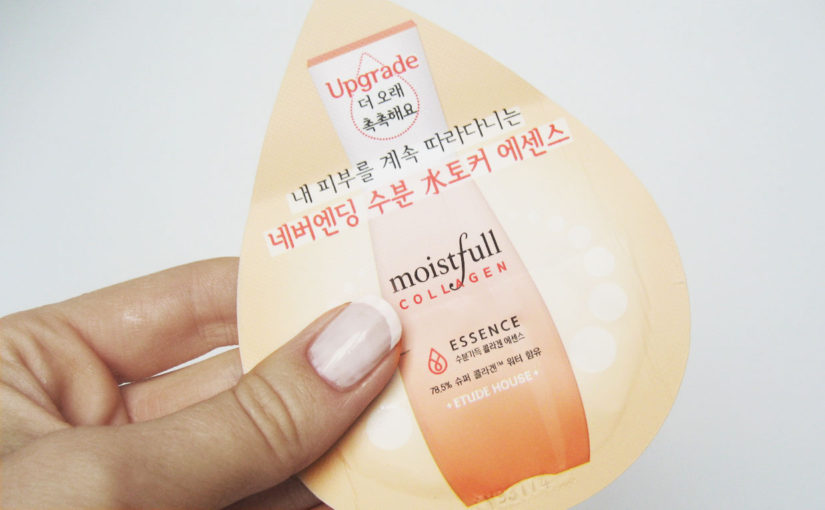 Imorgon kommer en recension på Etude House Moistfull Collagen Essence från Korea