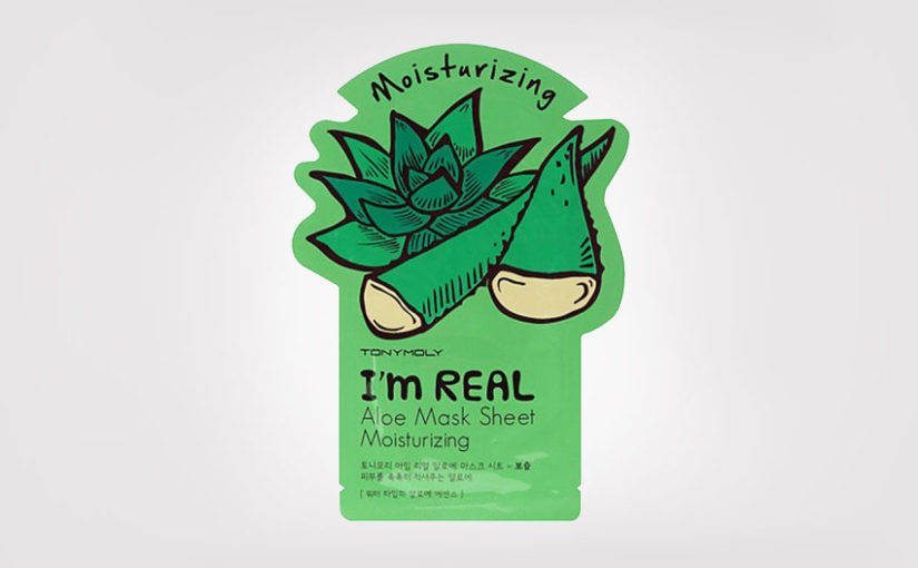 First impression recension TonyMoly Im Real Mask Sheet mask Aloe Vera Koreansk hudvård K-beauty Sverige