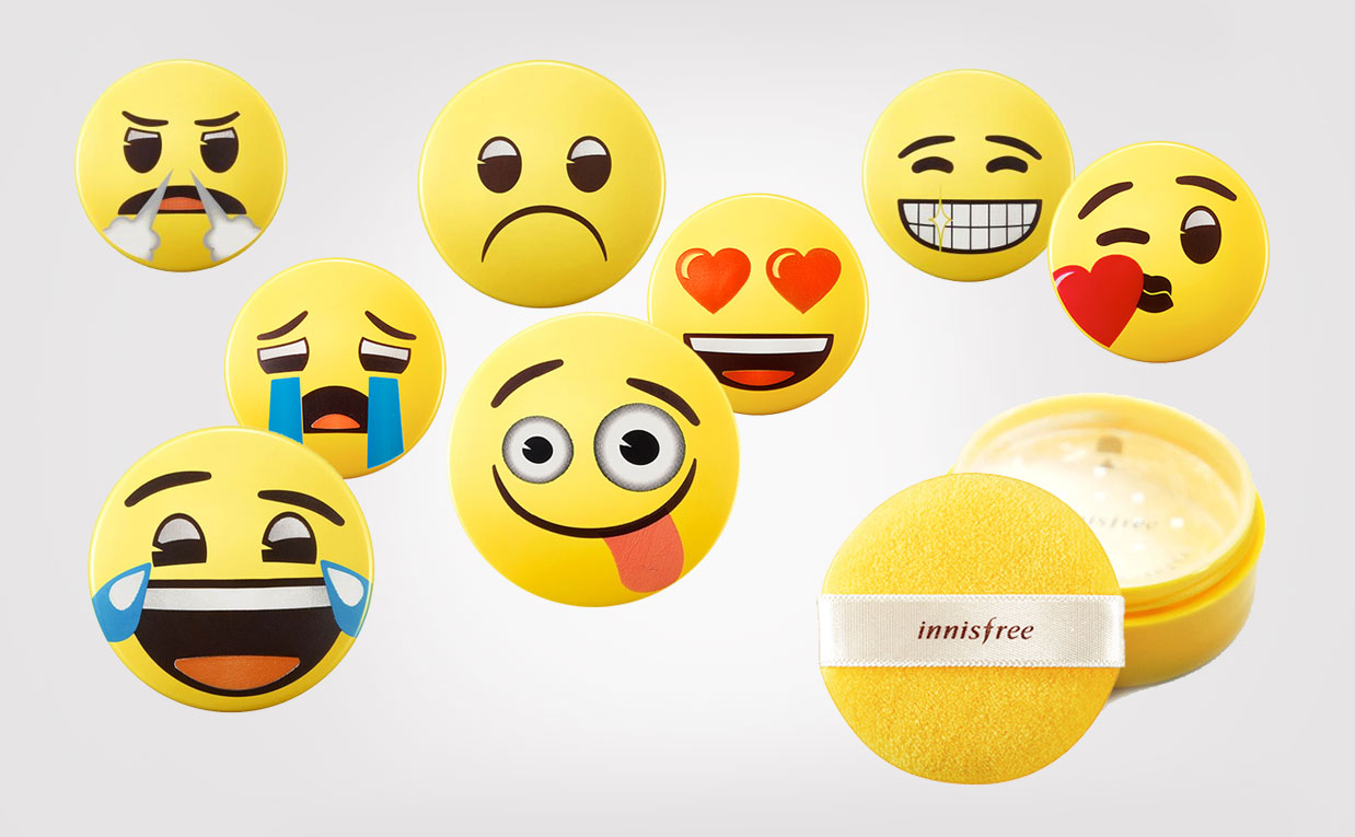 Innisfree No Sebum Mineral Powder emojis från Korea Koreansk makeup K-beauty Sverige