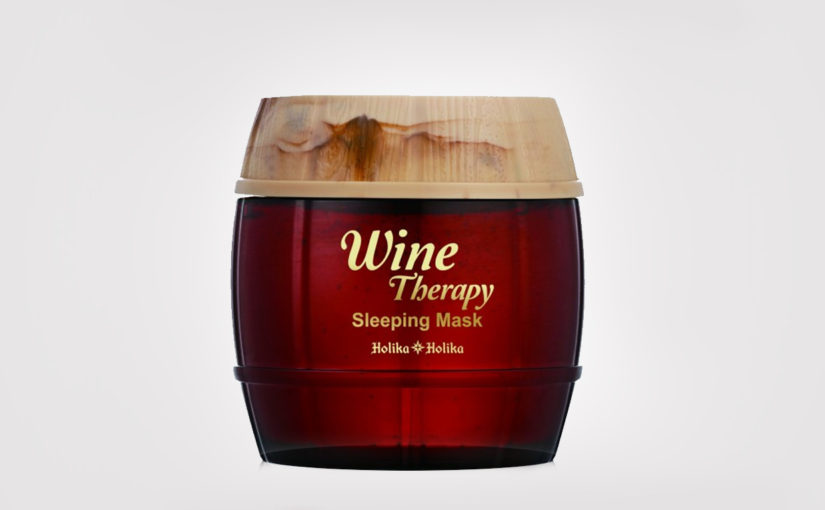 First impression recension Holika Holika Wine Therapy Sleeping Mask Red Wine från Korea. Koreansk hudvård K-beauty Sverige