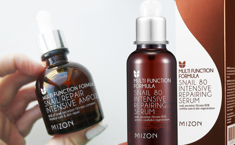 Mizon Snail 80 Intensive Repairing Serum vs Mizon Snail Repair Intensive Ampoule serum från Korea K-beauty Sverige