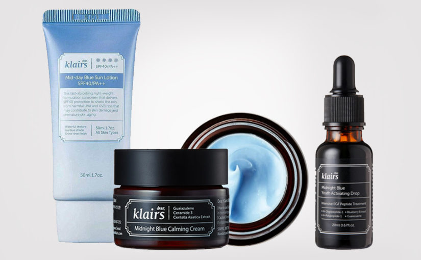 Klairs Midnight Blue Youth Activating Drop Serum Klairs Midnight Blue Calming Cream från Korea K-beauty Sverige