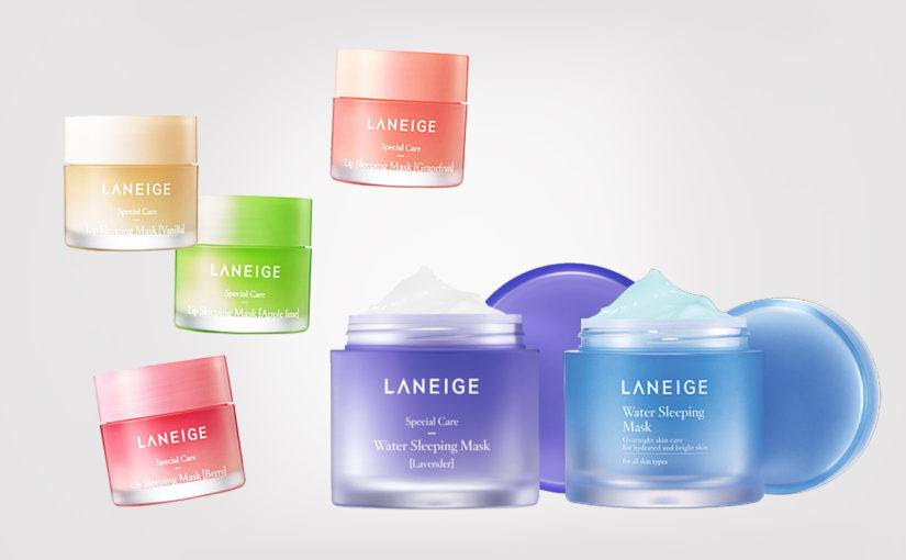 Laneige Water Sleeping Mask med lavendel. Koreansk hudvård K-beauty Sverige