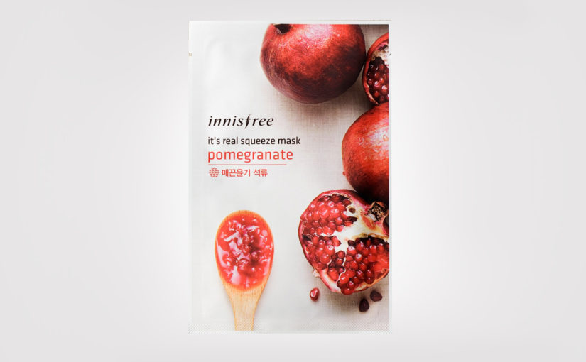 Recension Innisfree It's Real Squeeze Mask Pomegranate sheet mask från Korea koreansk hudvård K-beauty Sverige